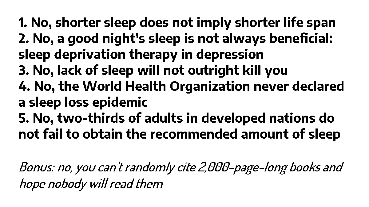 """Why We Sleep"" Is Riddled with Scientific and Factual Errors"